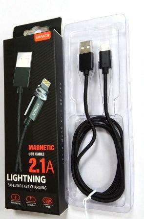 Кабель APPACS AP03779i, lightning (for iPhone), 5V/2.4A, 1 метр, магнитный