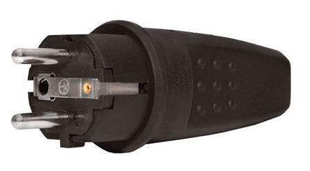 """Вилка """"UNIVersal"""" прямая с/з каучук 16А 250В IP44 (Еврослот) (АТ1549)  1/40"""