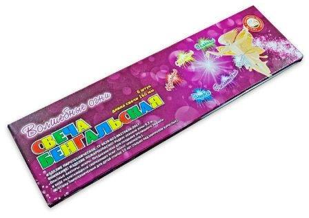 Бенгальская свеча Волшебные Огни 160мм 6шт 6цветов/комплект 1/280