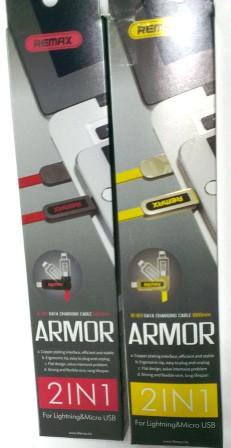 Кабель ReMax Armor iPhone5/microUSB 067t