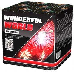 """Батарея салютов """"WONDERFUL WORLD""""  19 залпов * 1.2""""  1/8"""
