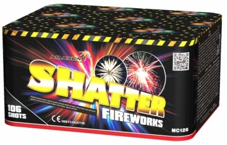 """Батарея салютов """"SHATTER FIREWORKS""""  100 залпов * 0.8""""  1/2"""