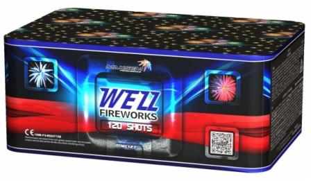 """Батарея салютов """"WEZZ FIREWORKS""""  120 залпов * 0.8""""  1/2"""