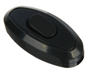 """Переключатель бра """"UNIVersal"""" черный 6А 250В (еврослот) (BD1906-MTC )"""