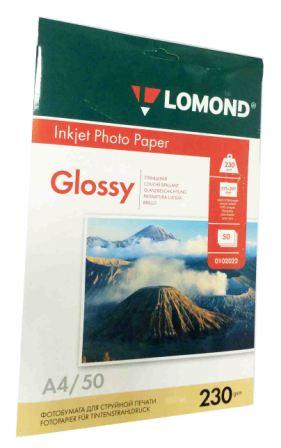 Lomond Глянцевая бумага 1xА4, 230г/м2, 50 листов