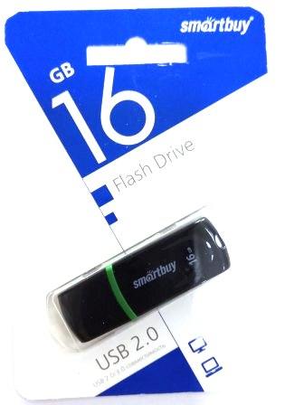 Флеш-накопитель USB  16GB  Smart Buy  Paean  черный