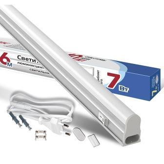 Светильник светодиодный линейный Т5 IONIСH SLED-COCB-СПБТ5-600мм-7Вт-630Лм-220В-6500К-IP40