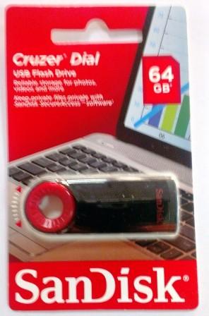 USB флэш-диск SanDisk 64GB CZ57 Cruzer Dial, USB 2.0, Black