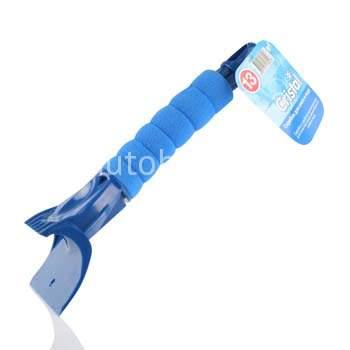 """Скребок """"Kolibriya"""" Cristal-13 Для снега/льда, мягкая ручка 25см   (1/24)"""