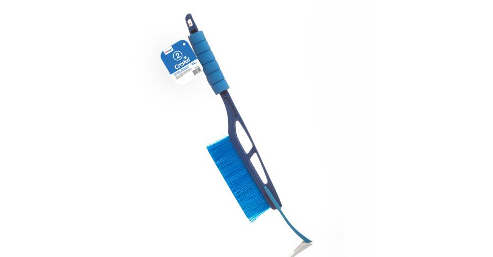 """Щетка для снега """"Kolibriya"""" Cristal- 2  Со съемным скребком (44 см), мягкая ручка    (1/24)"""