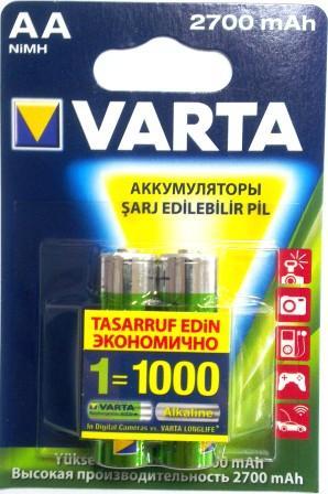5706 Аккумулятор к-т2 VARTA AA R2U 2700mAh 1/10/50