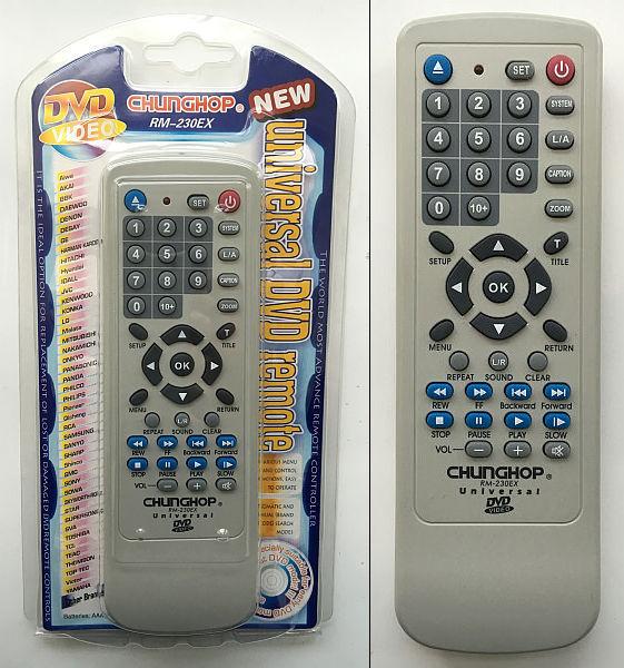 Универсальный пульт DVD RM230EX 2*ААА р/и 1510-111