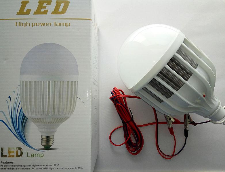 """Переноска LED 7024 24Ватт, радиатор, """"Крокодилы"""" - 3м"""