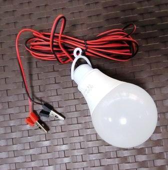 Переноска 7015 LED 15Ватт, вык, 12V Крокодилы 3м