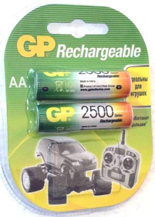 Аккумуляторные GP NIMH 2500 R6-2 BL/20