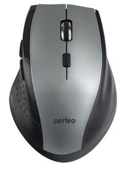"Perfeo мышь беспров., оптич. ""DAILY"", USB, серый металлик, PF_A4508"