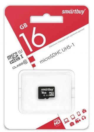 micro SDHC карта памяти Smart Buy  16GB Сlass 10