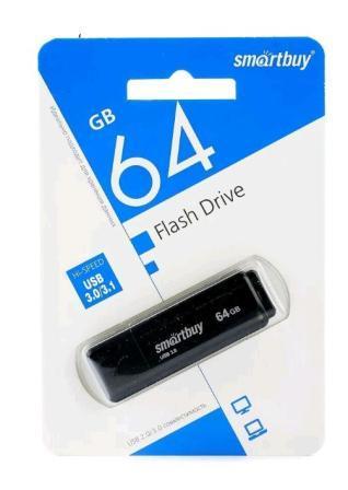 Флеш-накопитель USB 3.0  64GB  Smart Buy  LM05 черный